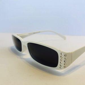 Girls/JRS White Rhinestone Custom Sunglasses
